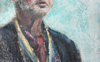 Een trots portret in encaustic art