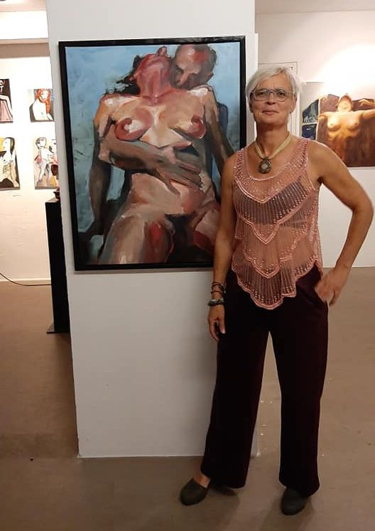 Mirjam at the Exhibition Delicious Body