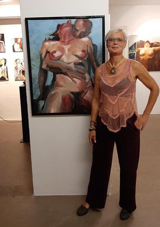 Mirjam at the Exhibition Delicious Body